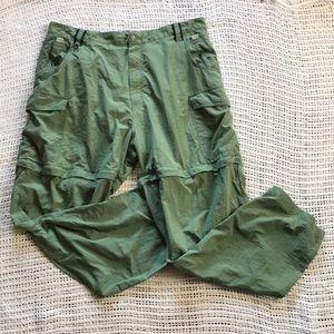 Reddington Men's Xl Green Convertible Cargo Pants